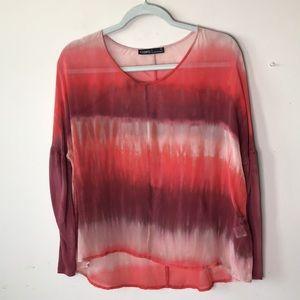 Silk Tie Dye Tunic Top
